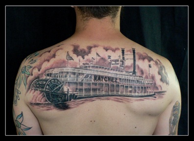 Natchez steamboat tattoo